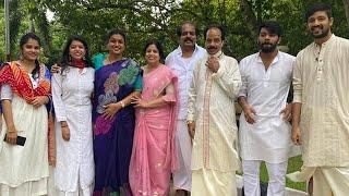Jabardasth Sudigali Sudheer spotted with Roja in Tirumala..