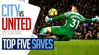 TOP 5 DERBY DAY SAVES | CITY v UNITED
