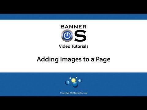 BannerOS: Adding Images to a Page
