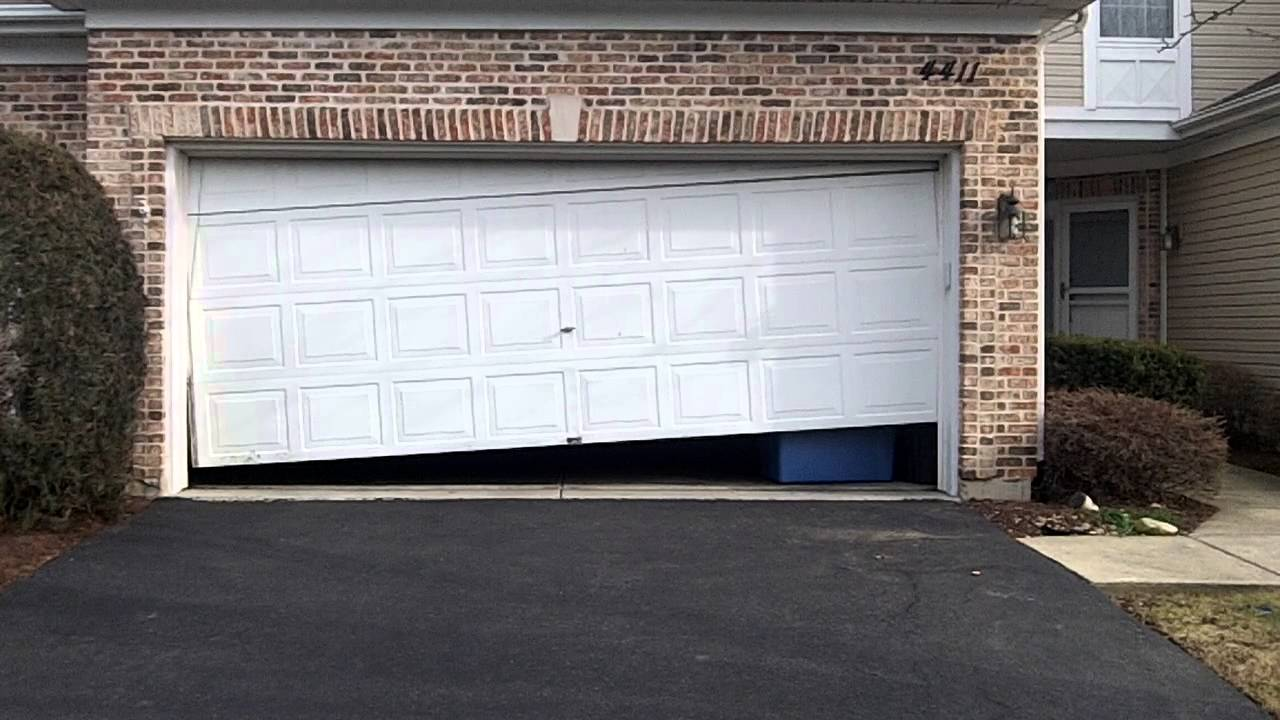 A Crooked Garage Door In Lisle Il Pt 1 Garage Door Off