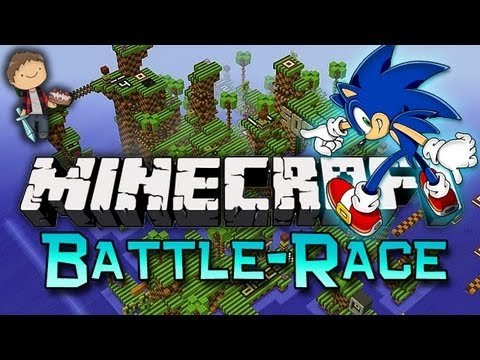 Minecraft: BATTLE-RACE FUN W/Mitch & Friends! - Smashpipe Games
