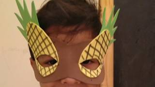 Kids Pineapple Face Mask| Easy Fun Craft