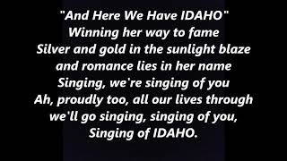 IDAHO Official State Anthem Song LYRICS WORDS BEST TOP POPULAR FAVORITE TRENDING SING ALONG SONGS