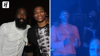 Russell Westbrook & James Harden vibing at the Drake concert in Las Vegas!