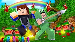 OPENING ALL OF OUR LUCKY BLOCKS SURPRISE EGGS AND PANDORAS BOXES  - Minecraft CRAZY CRAFT