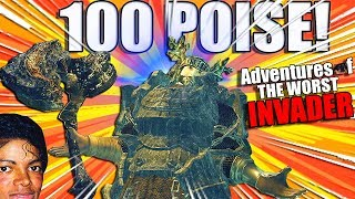 Dark Souls Remastered PvP: THE 100+ POISE BUILD (Adventures Of The Worst Invader)