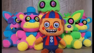 New FNaF Blacklight Plushies + Balloon Boy Series 4 Review