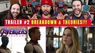 AVENGERS: Endgame (TRAILER #2) - BREAKDOWN & THEORIES!!!