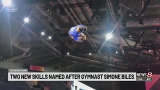 Two new gymnastic moves named after Simone Biles