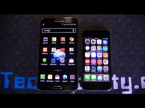 iPhone 5s vs. Samsung Galaxy Note 3 truly in depth comparison
