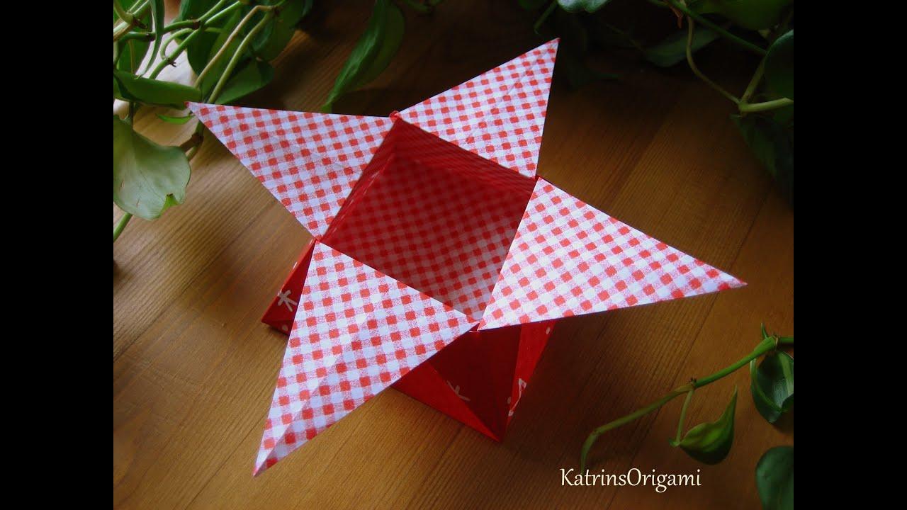 Origami ☆ Star Box ☆ ( traditional ) ¸.•*☽☼☾*•.¸¸ - YouTube - photo#36