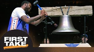 Stephen A. and Max react to Meek Mill attending 76ers game after prison release | First Take | ESPN