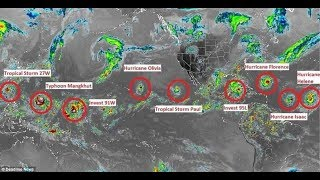 Hurricane Florence and 8 other DEADLY Storms Currently Girdling Globe in 'Ring of Thunder'