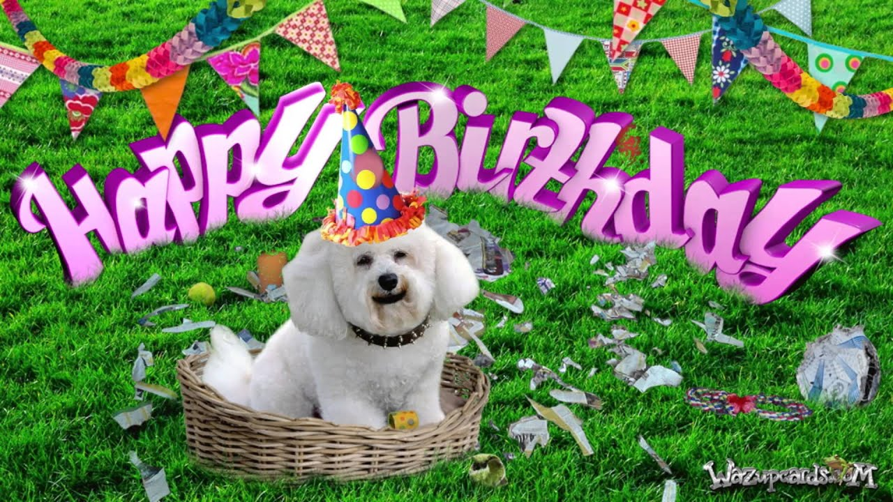 Happy Birthday Poodle Cake