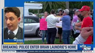 #GABBYPETITO BREAKING: Police Enter Brian Laundrie's Florida Home Before Gabby Petito Prayer Vigil