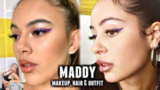 MADDY EUPHORIA MAKEUP,  HAIR AND OUTFIT TRANSFORMATION | Adelaine Morin