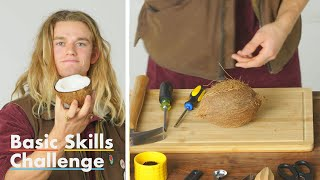 50 People Try to Crack Open a Coconut | Epicurious