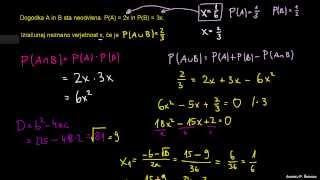 Verjetnost 48 – računanje neznane vrednosti