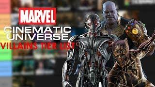 The Marvel Cinematic Universe Villains Tier List