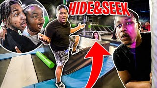 Crazy Hide And Seek In Trampoline Park With Entire The Squad  !!