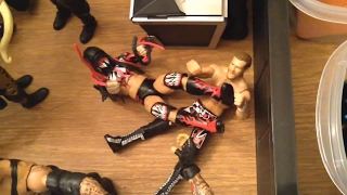 WWE action figure set up - Steel Cage