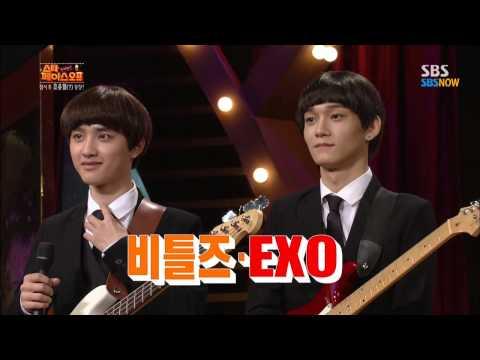 SBS [스타페이스오프] - EXO(레이,찬열,첸,디오) 비틀즈로 변신!!