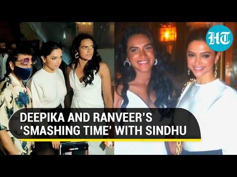 Watch: Deepika Padukone and PV Sindhu step out for dinner date, Ranveer Singh joins