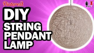 DIY String Pendant Lamp, Corinne VS Pin #23