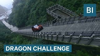 Watch This Hybrid Range Rover SUV Climb 999 Steps Up A 45-Degree Angle Mountain In China