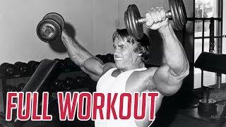 Arnold Schwarzenegger's Full BEAST Shoulder Workout for Boulder Shoulders