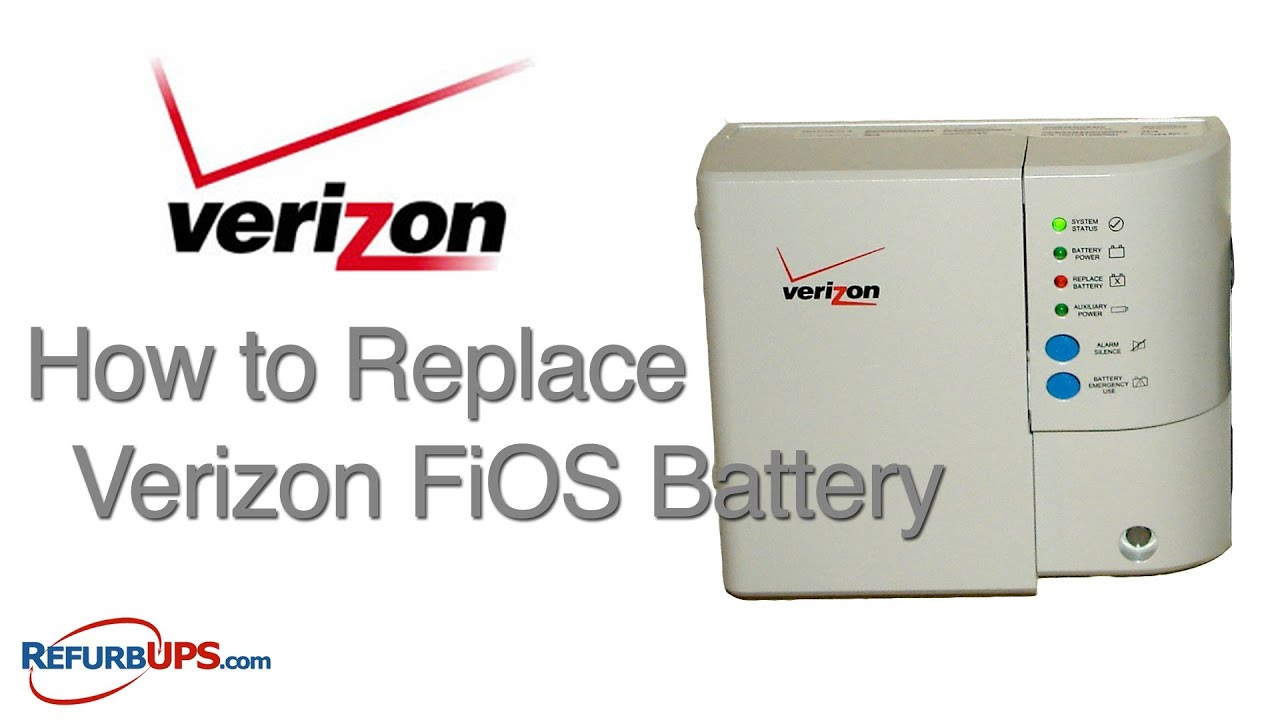 How To Replace Verizon Fios Battery Youtube