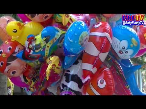 Balonku Ada Lima Mainan Anak - Balon Karakter Masha, Boboiboy, Doraemon, Ipin Upin, Hello Kitty