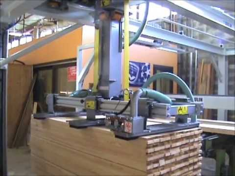 Joulin Gantry Robots : Infeed of lumber molder