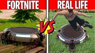 FORTNITE LAUNCHPAD IN REAL LIFE! Fortnite vs. Real Life