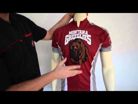 Montana Grizzlies Cycling Jersey by Adrenaline Promotions