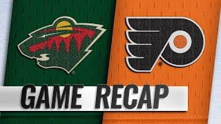 Van Riemdsyk records hat trick in Flyers' 7-4 win