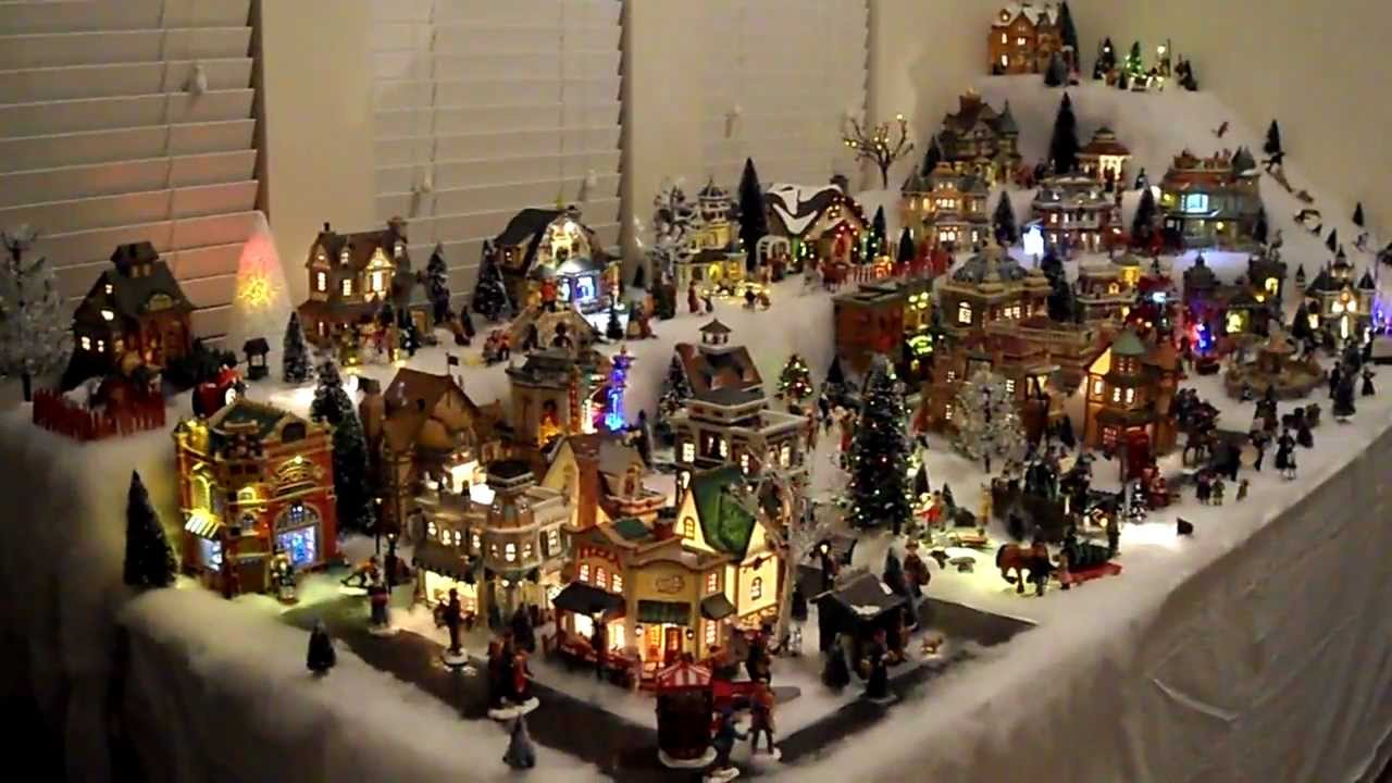 Chris Amp Gabby S Lemax Christmas Village 2011 Youtube
