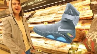 WEARING $10,000 NIKE MAGS FOR A SOCIAL EXPERIMENT!! (Crazy...)