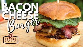 Bacon Cheeseburger Smash Burger Recipe on the Weber Kettle Grill - How to make Smashburgers EASY