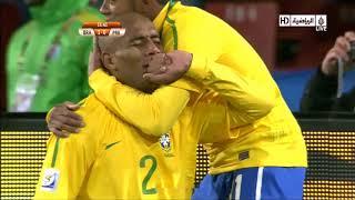 البرازيل و كوريا الجنوبية 2-1 l كاس العالم 2010     -