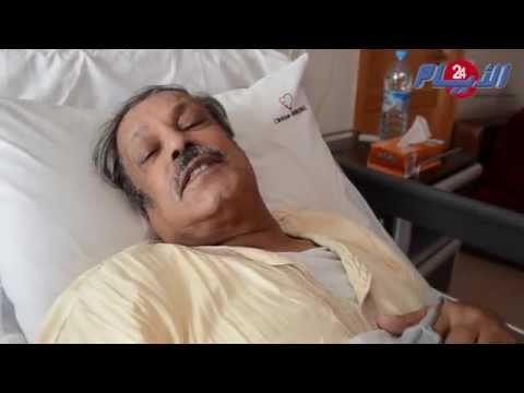 الفنان عبد العظيم الشناوي بعد خضوعه لعملية جراحية