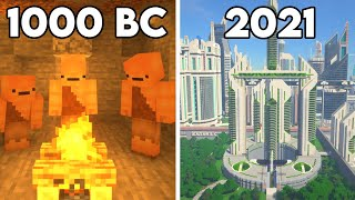 History of Humans in Minecraft
