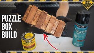 DIY Paint Stick Puzzle Box