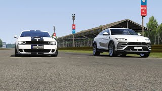 Dodge Challenger SRT Hellcat WideBody vs Lamborghini Urus at Monza Full Course
