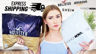TESTING OVERNIGHT SHIPPING FROM DIFFERENT BRANDS!!