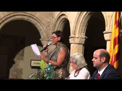 La Professoressa Rosa Maria Delor presenta Salvador Espriu
