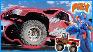 Off Road Racing Trucks for Toddlers | Pily Truck Video for Kids | Pily Drives Trucks