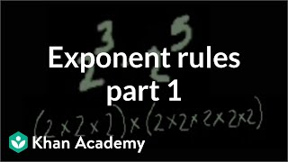 Exponent rules part 1