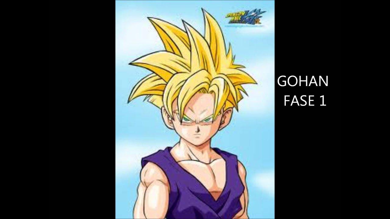 Dibujo De Goku Super Sayayin Dios Fase 5 Pintado Por En: LAS FASES DE GOKU,GOHAN,GOTEN Y PAN