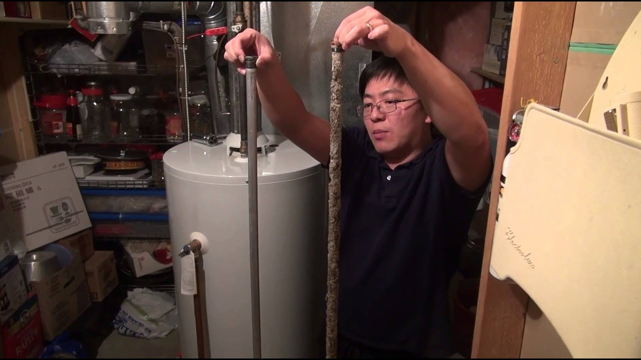 How To Replace A Water Heater Sacrificial Anode Rod Youtube